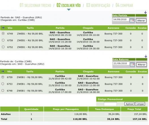 Passagens aereas promocionais por R$59
